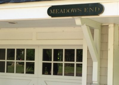Meadows End Sign